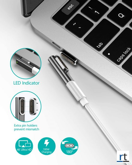 4K 20 Pin Magnetic USB C Adapter, Type C Connector