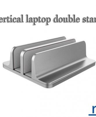 Vertical Laptop Stand Double Desktop Stand Holder with Adjustable Dock