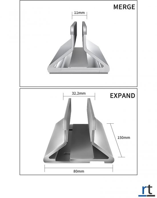 Aluminum Vertical Laptop Adjustable Dock Stand
