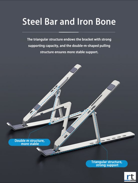 Aluminum Collapsible Laptop Stand