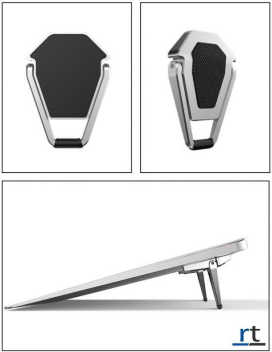 Aluminum Shield Style Mini Bracket Laptop Cooling Stand