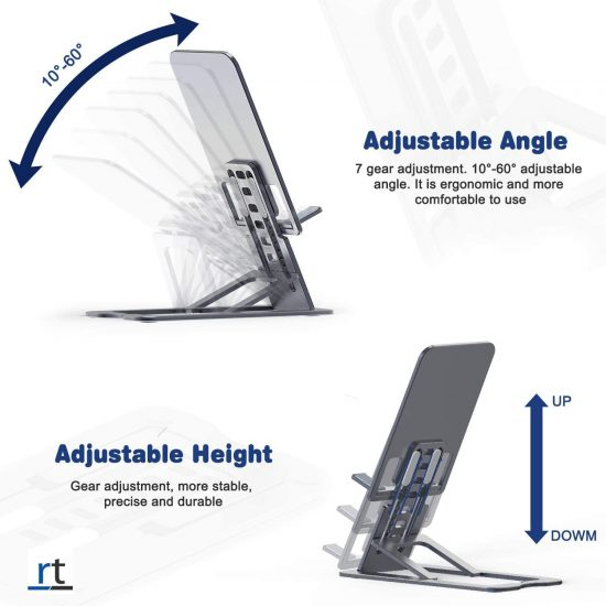 Aluminium 7 Gear adjustment iPad/tab/phone Stand