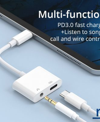 type c to 3.5mm splitter with charging
