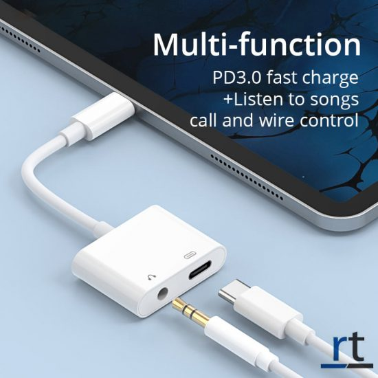 2in1 type C adapter for charging, calling, gaming and music